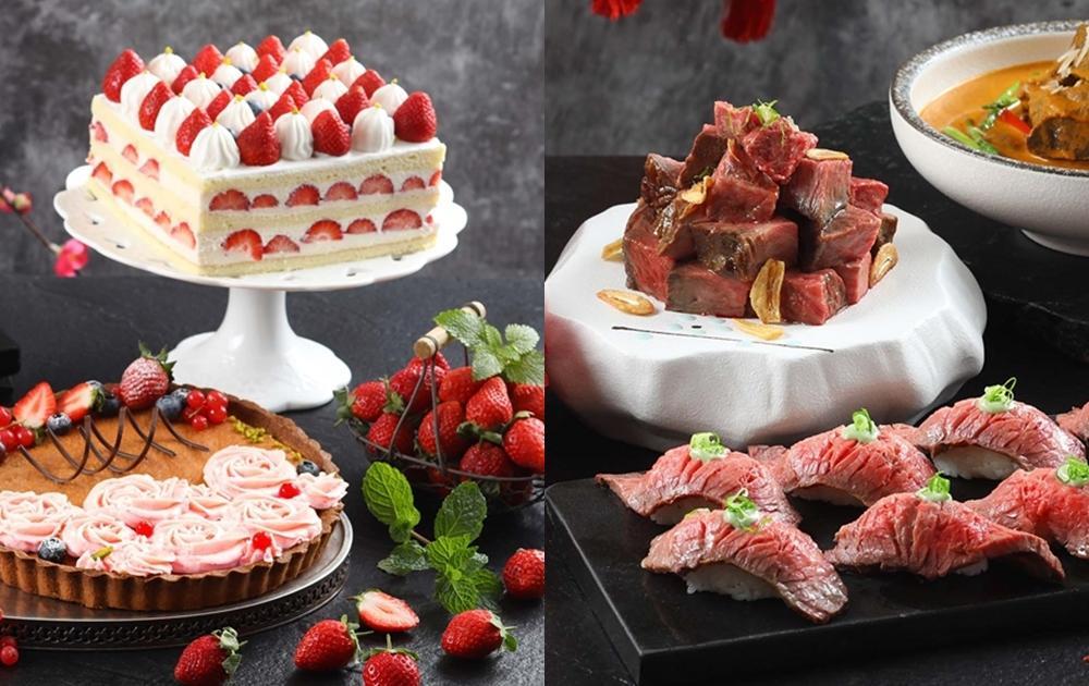 大湖草莓吃到飽、日本A5和牛無限量!全台最高「50樓Café」暖冬新菜不加價