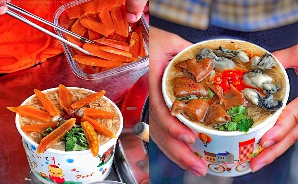 這碗麵線堆滿「烏魚子+鮮蚵大腸」一舀就溢出來!台南超狂小吃5小時完售