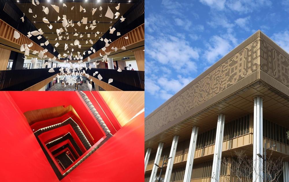 文青必踩點!台南市立圖書館新總館「紅色樓梯、絕美迴廊」成最夯打卡地標