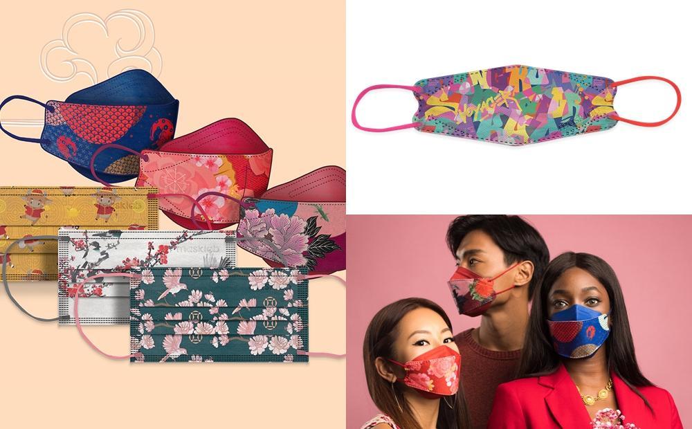「時尚立體口罩」韓星都在戴!Masklab漸層櫻花、繽紛塗鴉造型拜年好喜氣