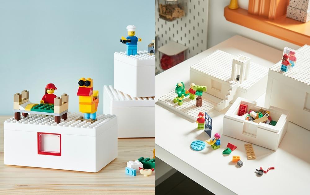 IKEA × LEGO聯名系列台灣限量開賣!積木收納盒、201塊樂高小人配件必搶