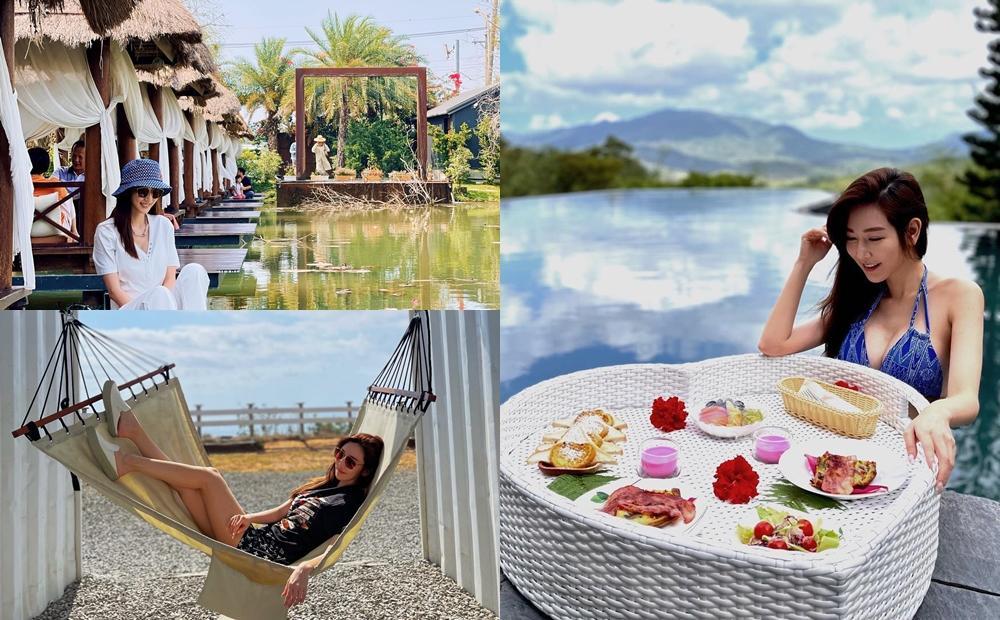 曾莞婷玩墾丁踩點「全新海景咖啡廳、最美餐酒館」!曬泳池辣照成旅遊亮點