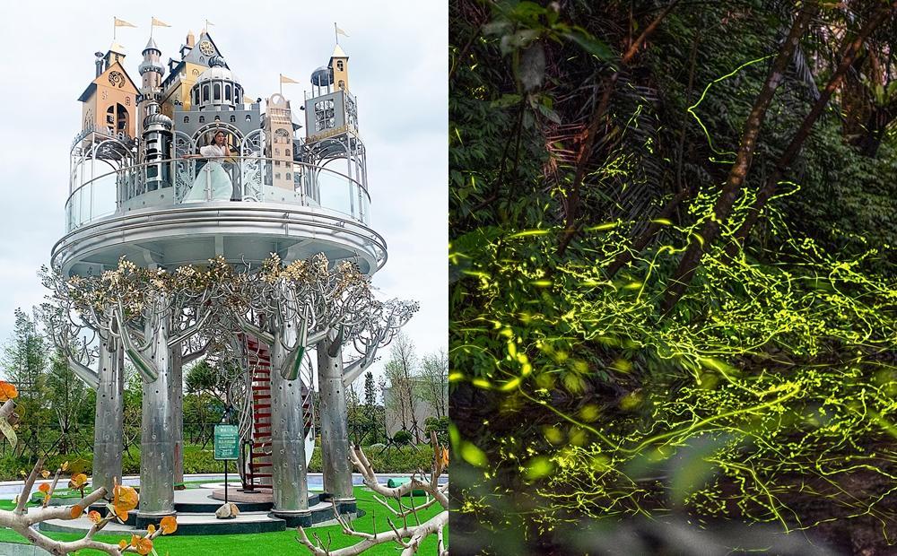 宜蘭「賞螢小旅行」清水模森林民宿睡一晚!最新空中城堡、油桐花拍起來