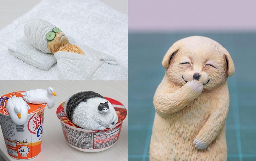 口罩貓、偷笑狗狗...他用黏土把「迷因梗圖」實體化!網友敲碗求販售