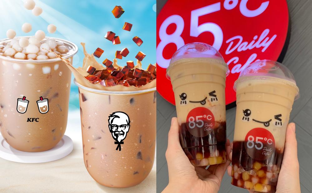 咀嚼控必喝新品!85度C爆料奶茶加 4 種配料、肯德基白玉珍奶第 2 杯半價
