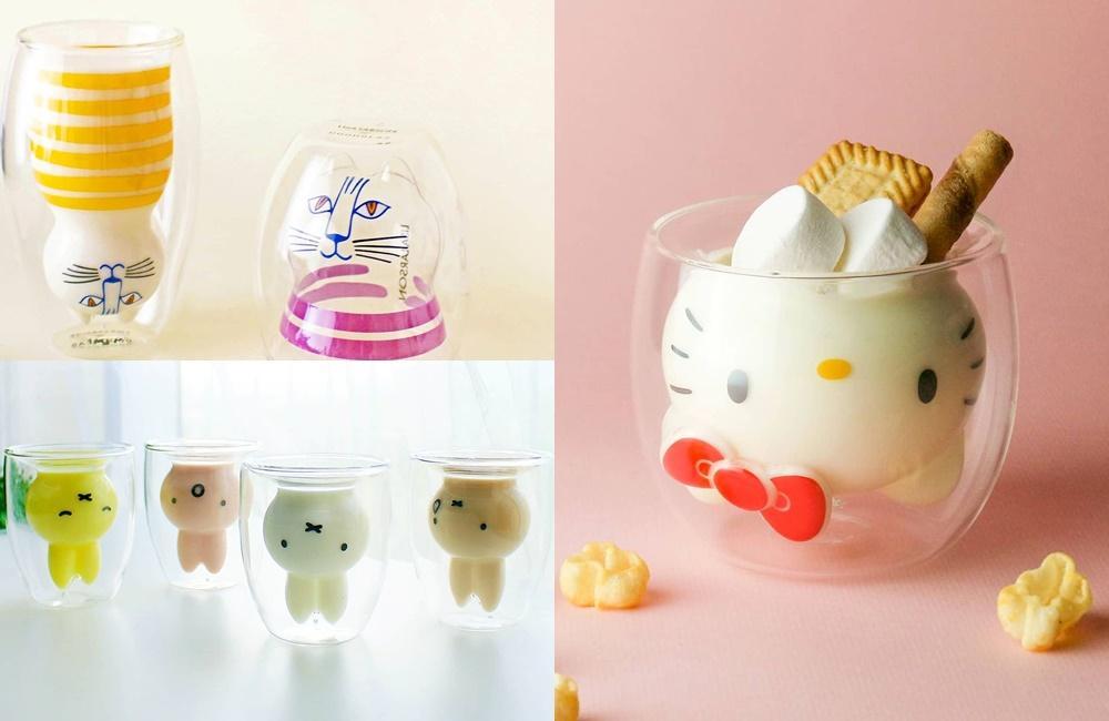 米飛兔、條紋貓、Kitty陪你喝飲料!夏天必備「造型雙層玻璃杯 」藏可愛彩蛋