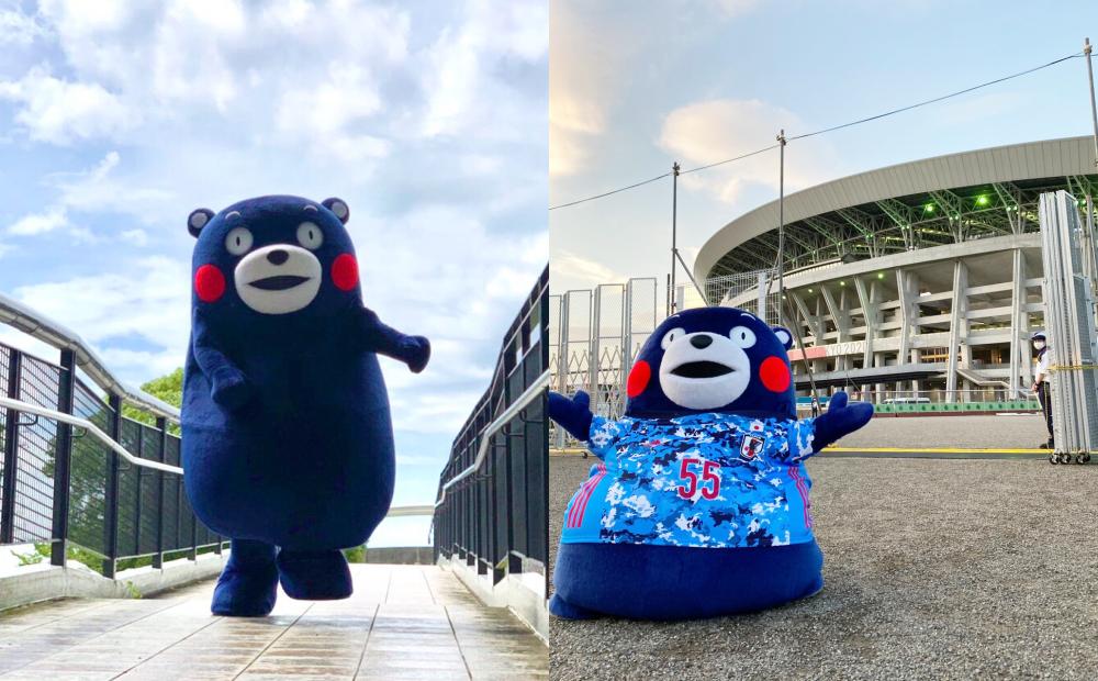日本吉祥物熊本熊換上「奧運藍」新造型!全身限定色暗藏玄機