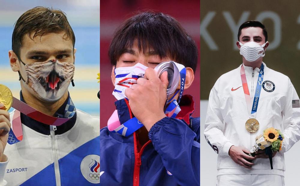 金牌泳將「戴貓咪口罩」站上頒獎台!東京奧運爆紅口罩還有這些