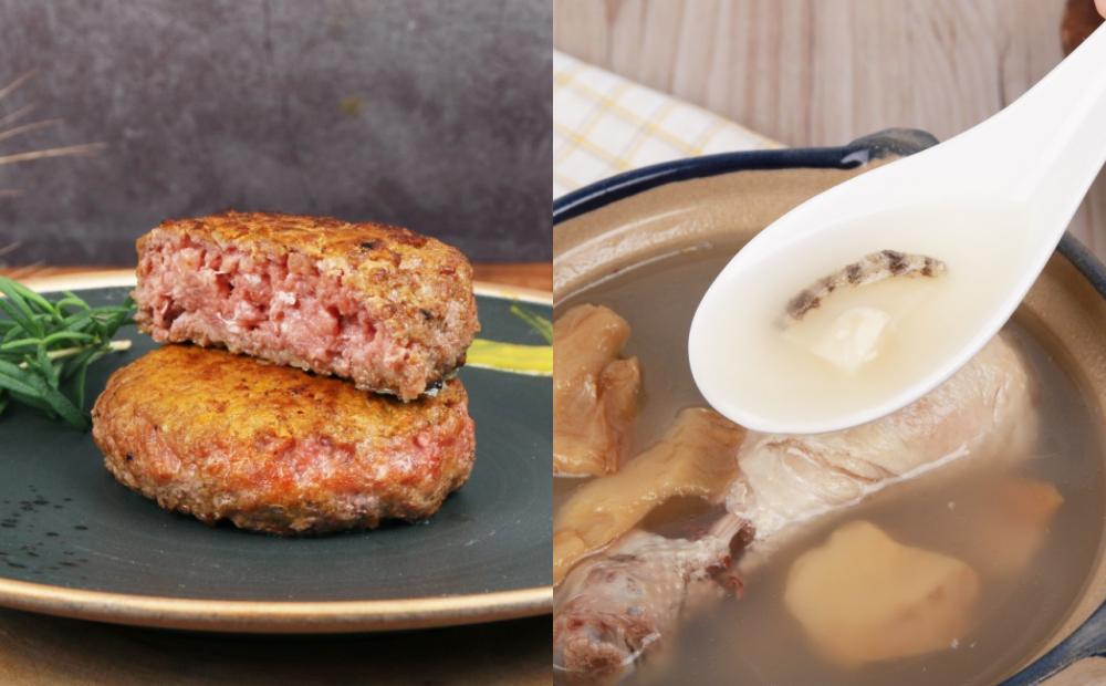 連靜雯超夯麵食推新品!「鮑魚干貝雞湯、和牛漢堡排」冷凍包快速上桌