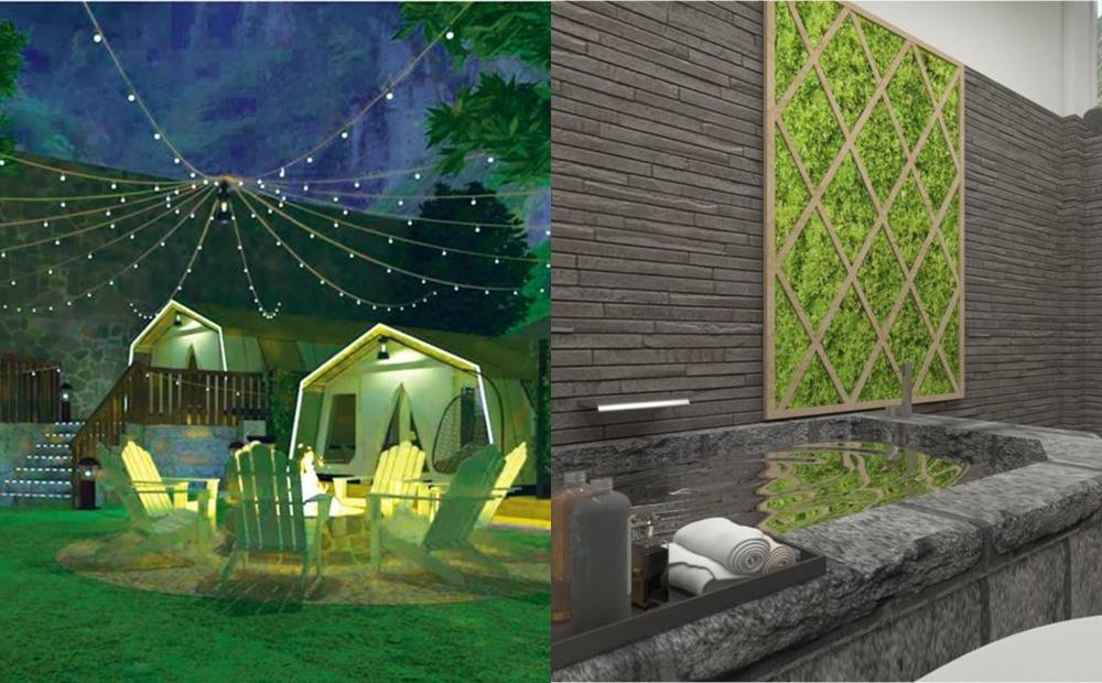 豪華帳篷裡泡湯、享受日式戶外風呂!谷關最新「溫泉渡假村」隱身山林