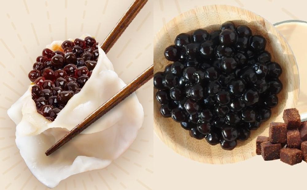 史上最狂「黑糖珍珠水餃」內餡塞滿滿!網友震驚:要沾奶茶醬?