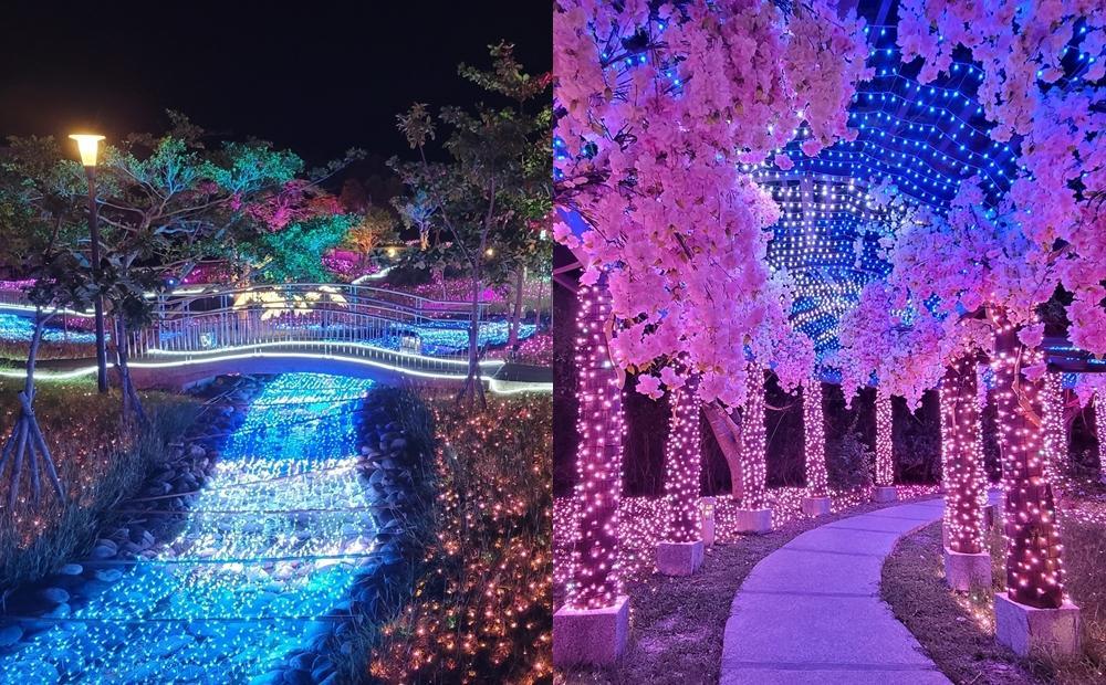 櫻花隧道、雪白樹冰搶先看!屏東「四重溪溫泉公園」泡湯賞燈海11月登場
