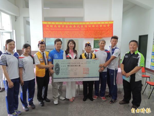 亞運自由車賽高雄奪兩銅 獅子會捐120萬訓練費