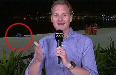 奧運》太猖狂!記者現場連線 後方情侶竟公然愛愛(影音)