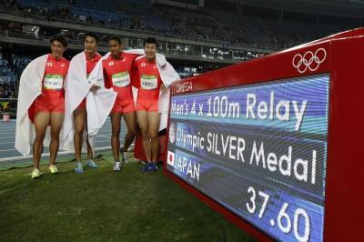 奧運》400公尺接力摘銀 日本接力隊寫歷史