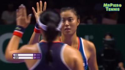 WTA》提前碰女雙黃金組合 詹家姊妹力戰2盤惜敗