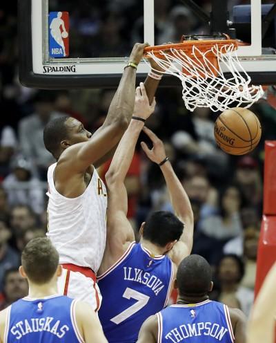 NBA》恩比德休兵 七六人慘敗老鷹