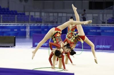 世大運》韻律體操測試賽登場 台灣隊收兩銅