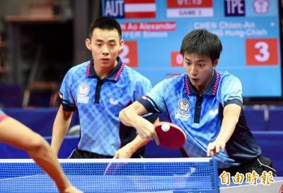世大運》桌球男雙陳建安/江宏傑、廖振珽/李佳陞雙雙闖進4強