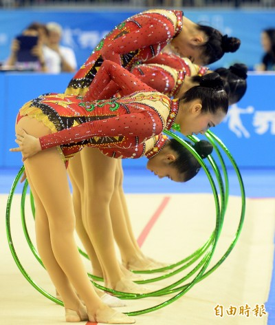 世大運》不敵日俄強權 台灣韻律體操隊團體5環無緣獎牌