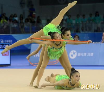 世大運》地主氣場強!台灣韻律體操團體3球2繩摘銀
