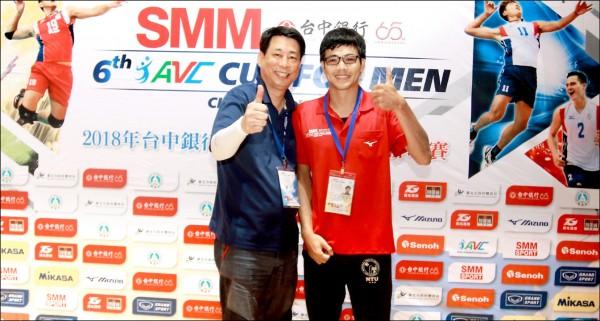 亞洲盃男排賽》台大「三聲道」學霸 征服南韓記者