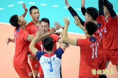 亞洲盃男排賽》地主氣勢威! 台灣隊逆轉哈薩克晉四