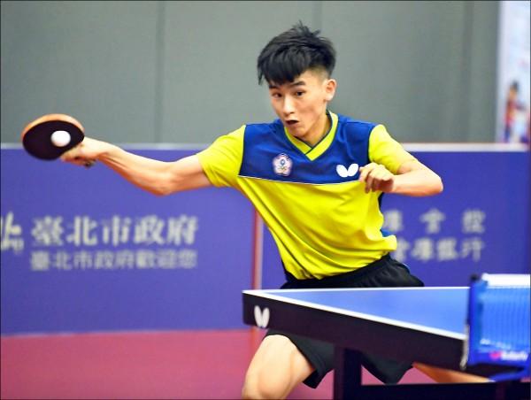台北青少年桌球公開賽》預備「轉大人」 黎昕陽一日2金