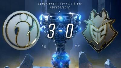 英雄聯盟世界賽》IG展現王者氣勢 3:0橫掃G2前進冠軍賽