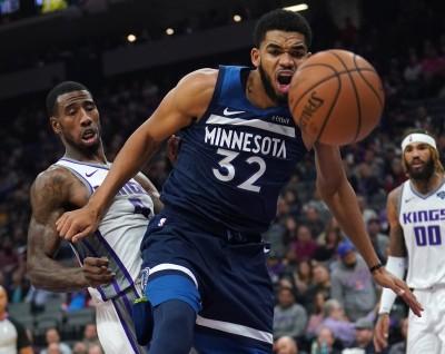 NBA》孤掌難鳴!湯斯得分寫本季新高  灰狼仍慘吞5連敗