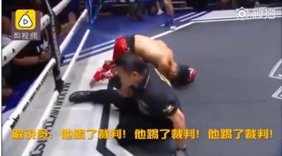 拳擊》驚!中國泰拳選手想踢對手  卻意外KO裁判(影音)