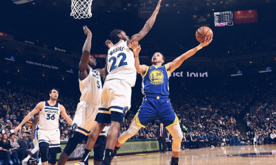 NBA》柯瑞7顆三分球 勇士「四巨頭」合體撂倒灰狼取4連勝