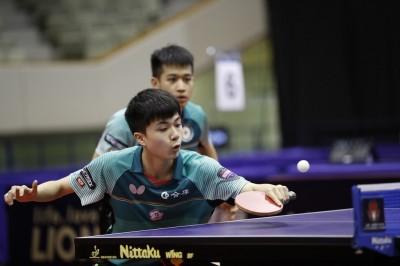 桌球年終賽》輸給老冤家 台灣兩組男雙八強止步