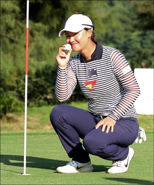 中國女子高球公開賽》連2月都奪金 李旻完美稱后