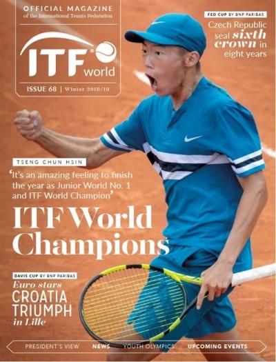 網球》台灣夜市球王躍上ITF刊物封面 曾俊欣獲封新綽號