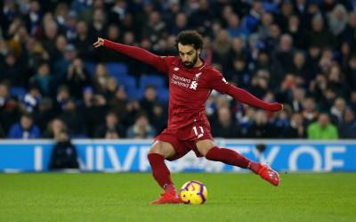 足球》薩拉12碼罰球破網 利物浦客場險勝布萊頓