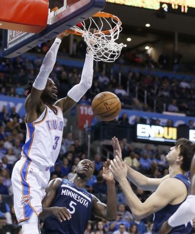 NBA》遭重扣撞暈 雷霆中鋒腦震盪今復出