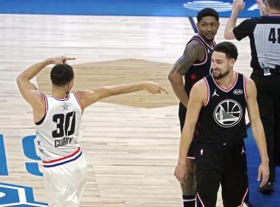 NBA》浪花兄弟正面對決 柯瑞神奇四分打讓K湯傻眼(影音)