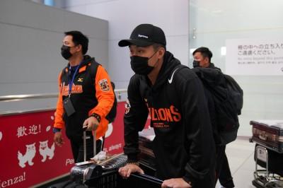 雙獅交流賽》日本流感怕怕 獅子軍口罩不離身