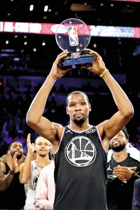 NBA明星賽》大帝沒看走眼 杜蘭特再拿MVP