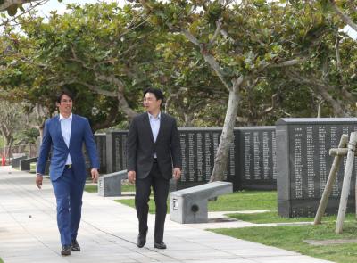 日職》陽岱鋼沖繩悼念台灣戰亡者 「對現在生活表達感謝」