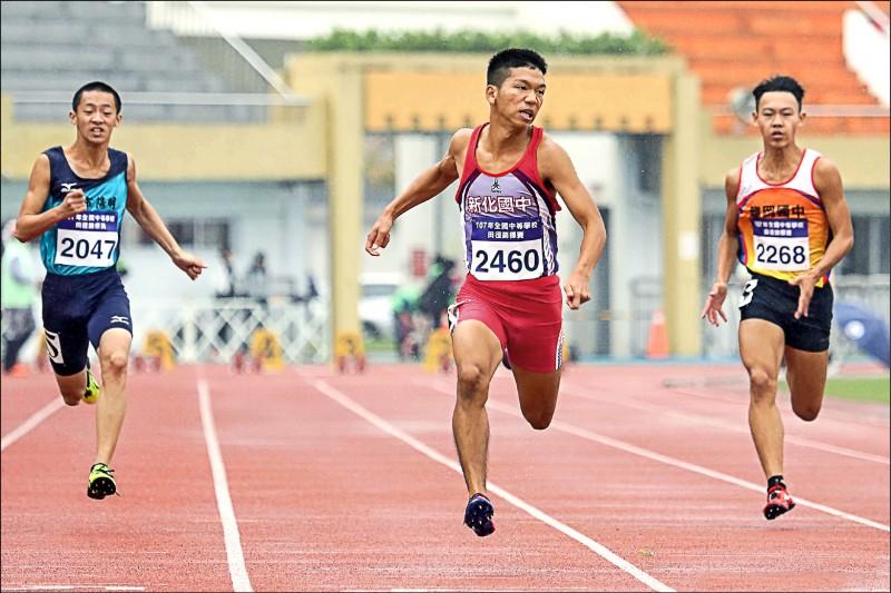 港都盃田徑賽》200公尺飆21秒65 魏浩倫最速國中生