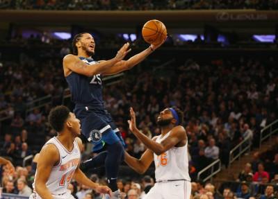 NBA》湯斯首度缺陣無礙  玫瑰率狼群撕裂尼克