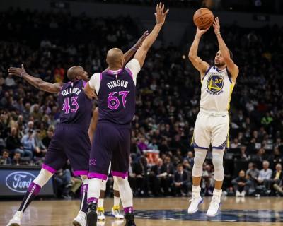 NBA》「萌神」柯瑞轟8顆三分球 率勇士重返西部龍頭