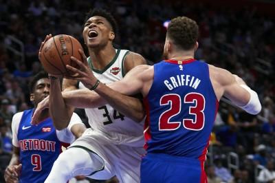 NBA》字母哥砍41分助隊橫掃活塞 公鹿相隔18年再闖次輪