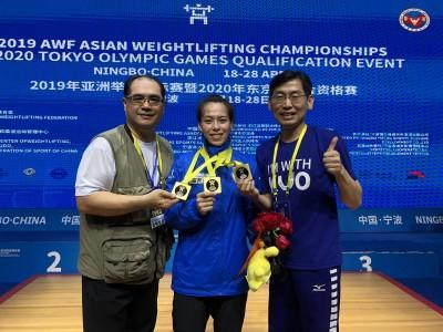 舉重亞錦賽》太狂!郭婞淳三破世界紀錄 橫掃3面金牌