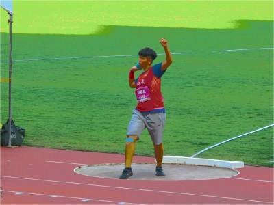 全中運》趙翊亘刷新大會紀錄 完成國女鉛球2連霸