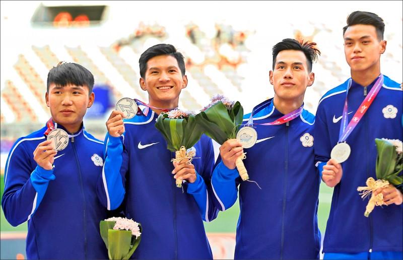 亞田賽》男子400接力奪首銀 陳奎儒「跨」進世錦賽