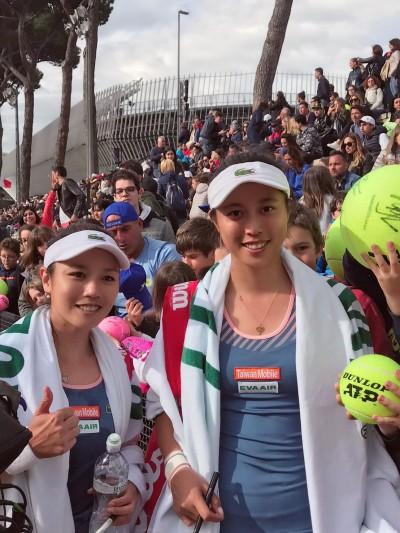 羅馬網賽》詹家姊妹不戰而勝 女雙率先晉8強