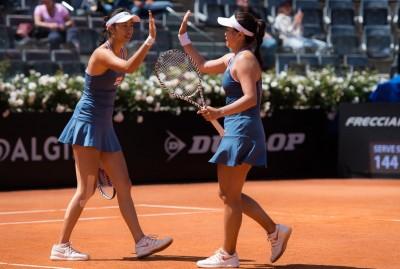 羅馬網賽》強心臟化解3賽末點 詹家姐妹逆轉晉4強